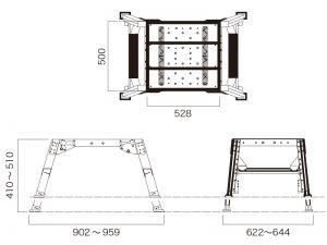 マキシム台51設置寸法図