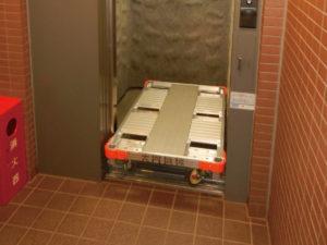 楽輪車エレベーター搬送