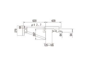 ベランダブラケット1020Sサヤ管タイプ